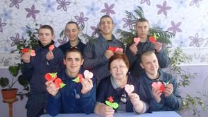 Вихованці Кременчуцької виховної колонії змагалися в конкурсі на кращу Валентинку