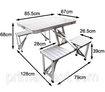Набор мебели алюминиевый для пикника (стол и стулья)