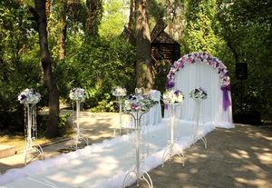 Волшебная свадьба в лесу: выездная церемония в банкетном зале «Екатерининский»
