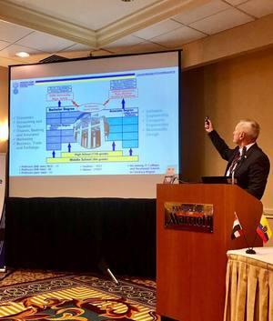 Директор Черкаського державного бізнес-коледжу Олег Куклін презентував у Державному департаменті США кращі здобутки коледжу