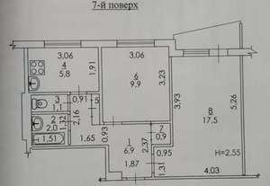 Продам 2 комнатную квартиру в 522 м/р на Салтовке